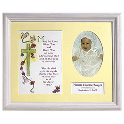 Baptism Memento Print and Frame