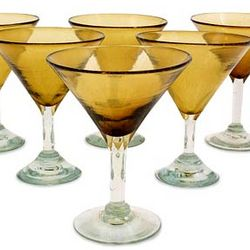 Martini Glasses in Amber