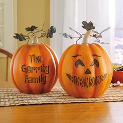 Personalized Pumpkin Table Decor