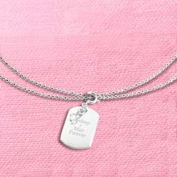 First Chapter Dog Tag Charm 40 Inch Necklace