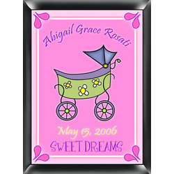 Personalized Carriage Room Sign in Pink
