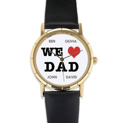 Personalized We Heart Dad Watch