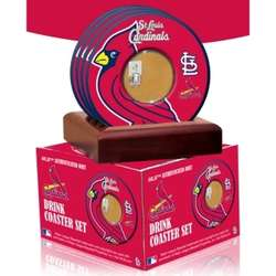 St. Louis Cardinals Coasters with Game Used Dirt