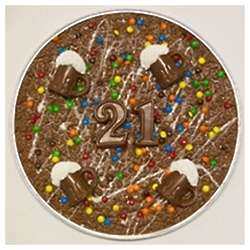 Happy 21st Birthday Chocolate Pizza