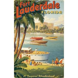 Fort Lauderdale Metal Print Sign
