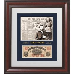 Fort Sumter Collectible, with Authentic Confederate Currency