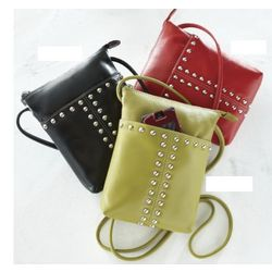 Studded Leather Side Bag