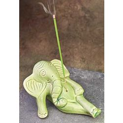 Reclining Elephant Incense Holder