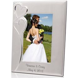 Personalized Wedding Romance 5x7 Silver Picture Frame