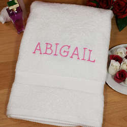 Embroidered Name Bath Towel