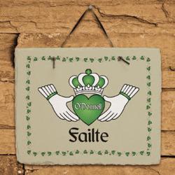Personalized Failte Irish Slate Plaque