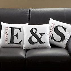 Monogram Initial Throw Pillow