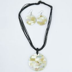 Disco Mosaic Tile Necklace Set