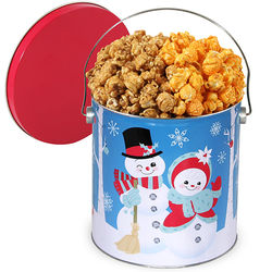 Holiday Snowmen Classic Chicago Mix Popcorn Tin