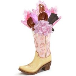Western Cowgirl Boot Vase and Sweets