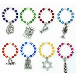 8 Shabbat/Sabbath Wine Charms