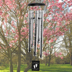 Footprints on Our Hearts Memory Wind Chime