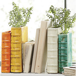 Book Shaped Bookend Vases