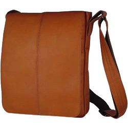 Vaquetta Leather Small Vertical Messenger Bag