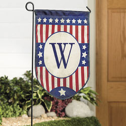 Monogrammed Mini Americana Garden Flag