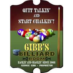 Vintage Personalized Billiards Sign