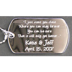 Custom Engraved Say Anything Pendant