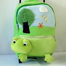 Child's Wheeled Frog Backpack
