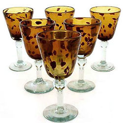 Tortoise Shell Wine Glasses