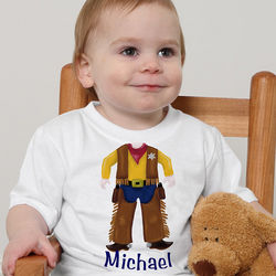 Personalized Baby Cowboy T-Shirts