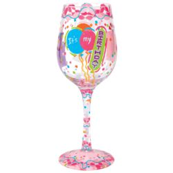 It's My Birthday Hand-Painted Wine Glass