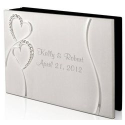 Personalized Wedding Romance Silver Photo Album