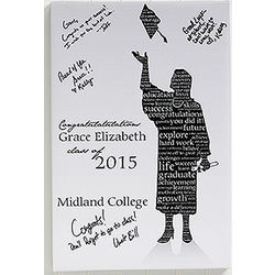 Personalized Graduate Silhouette Canvas Wall Art