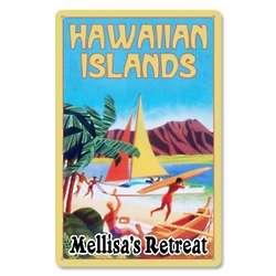Personalized Metal Hawaiian Islands Sign