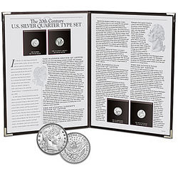The 20th Century U.S. Silver Quarter Type Coin Set