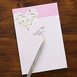 Her Heart of Love Personalized Notepad