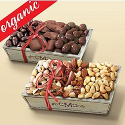 Organic Nuts and Chocolates Gift Trays