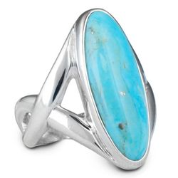 Arizona Kingman Elongated Turquoise Ring
