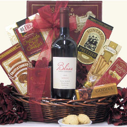 Bliss Anniversary Wine Gift Basket