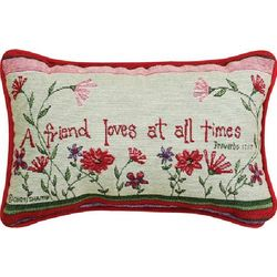 A Friend Loves at Times Pillow