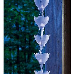 Floral Solar Rain Chain