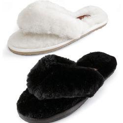 Women's Sheepskin Thong Slippers