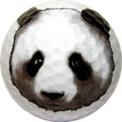 Panda Bear Golf Ball