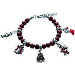 Christmas Charm Bracelet in Silver