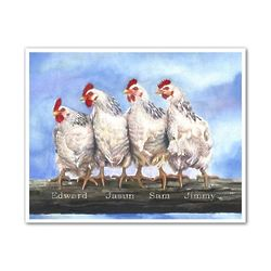 Chicken IV Personalized Art Print