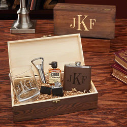 Men's Personalized Classic Monogram All the Vices Gift Set