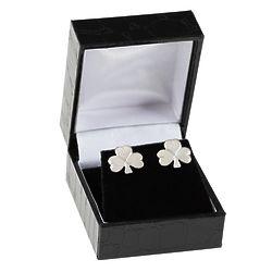 Sterling Silver Shamrock Stud Earrings