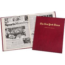 Personalized New York Times NFL Team History Book