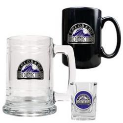 Colorado Rockies 3-Piece Mug and Shot Glass Set