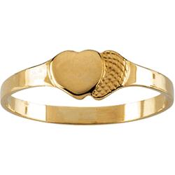 14k Gold Double Heart Children's Ring