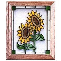 Hand Painted 8 x 10 Stained Glass Window